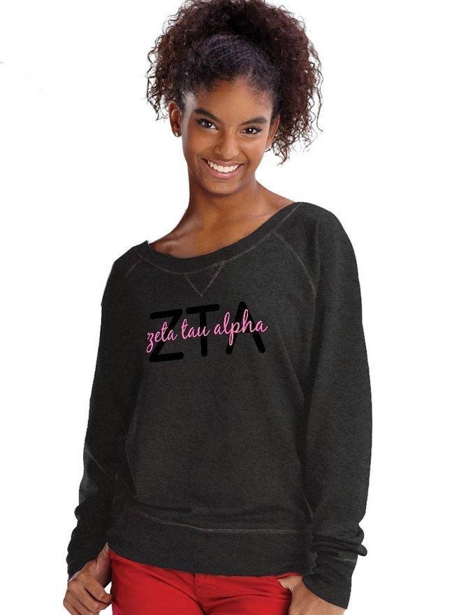 Zeta Tau Alpha crewneck sweatshirt