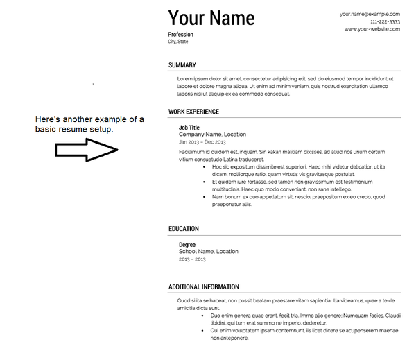 stellar resume examples