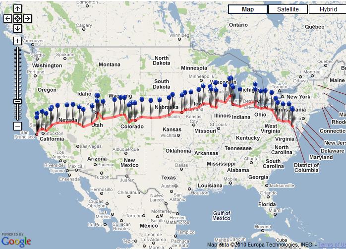 trip across America