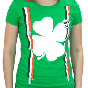 Women's Shamrock Suspenders T-shirt